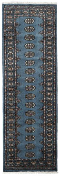 Pakistan Bokhara 2Ply Matto 79X241 Itämainen Käsinsolmittu Käytävämatto Tummansininen/Musta (Villa, Pakistan)