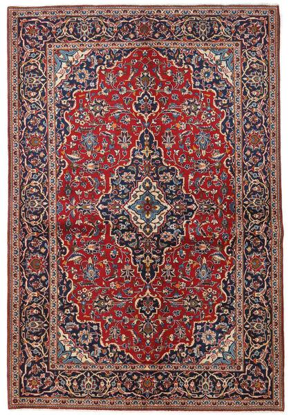 Keshan Matto 149X223 Itämainen Käsinsolmittu Tummanpunainen/Tummanvioletti (Villa, Persia/Iran)