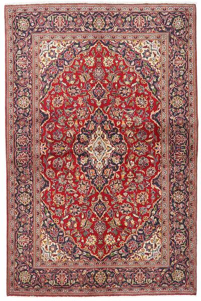 Keshan Matto 133X203 Itämainen Käsinsolmittu Tummanpunainen/Beige (Villa, Persia/Iran)