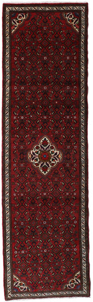 Hamadan Matto 83X290 Itämainen Käsinsolmittu Käytävämatto Tummanpunainen (Villa, Persia/Iran)