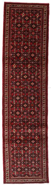 Hamadan Matto 72X292 Itämainen Käsinsolmittu Käytävämatto Tummanpunainen (Villa, Persia/Iran)