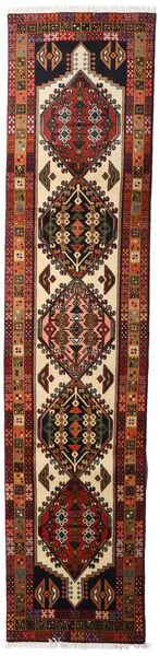 Ardebil Matto 66X288 Itämainen Käsinsolmittu Käytävämatto Tummanruskea/Tummanpunainen (Villa, Persia/Iran)