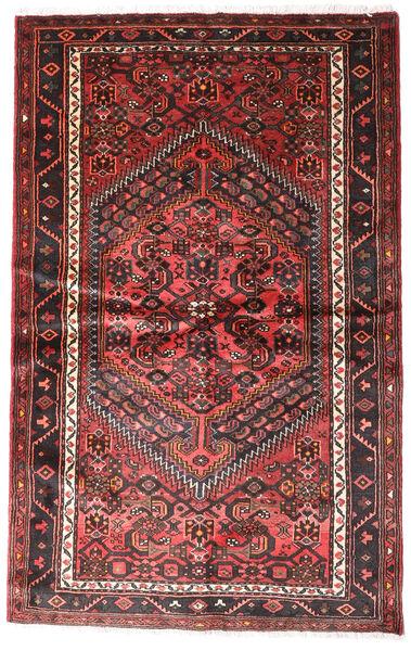 Hamadan Matto 124X196 Itämainen Käsinsolmittu Tummanpunainen/Musta (Villa, Persia/Iran)