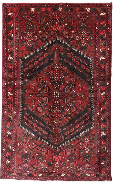 Hamadan Matto 125X204 Itämainen Käsinsolmittu Tummanpunainen/Musta (Villa, Persia/Iran)