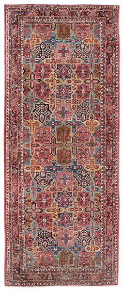 Sarough Matto 200X470 Itämainen Käsinsolmittu Käytävämatto Tummanpunainen/Tummanruskea (Villa, Persia/Iran)