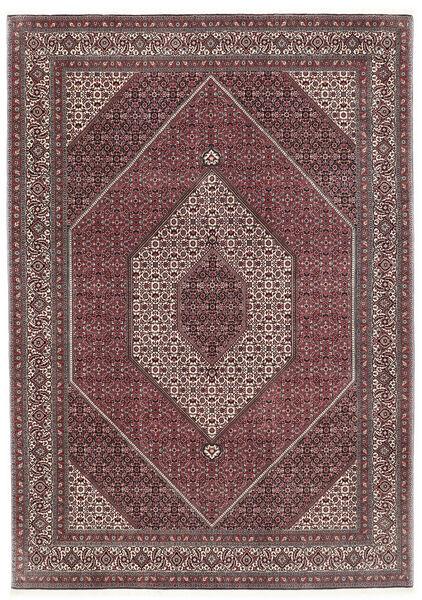 Bidjar Silkillä Matto 211X299 Itämainen Käsinsolmittu Tummanruskea/Tummanvioletti (Villa/Silkki, Persia/Iran)