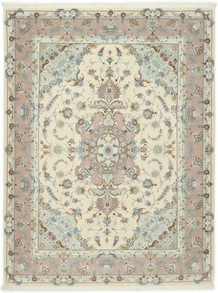 Tabriz 50 Raj Silkillä Matto 155X203 Itämainen Käsinsolmittu Vaaleanharmaa/Beige (Villa/Silkki, Persia/Iran)