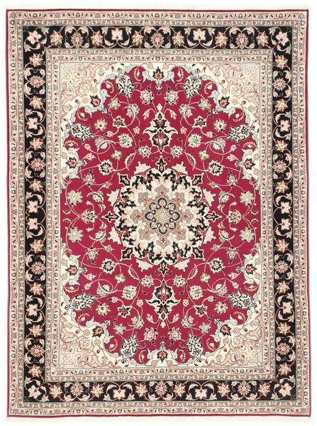 Tabriz 50 Raj Matto 151X200 Itämainen Käsinsolmittu Beige/Vaaleanharmaa (Villa/Silkki, Persia/Iran)