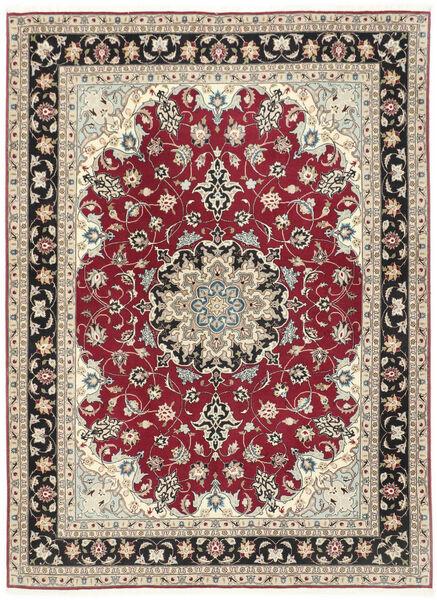 Tabriz 50 Raj Matto 152X205 Itämainen Käsinsolmittu Vaaleanharmaa/Beige (Villa/Silkki, Persia/Iran)