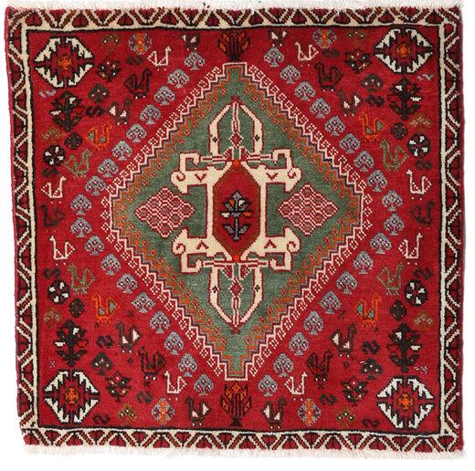 Ghashghai Matto 62X62 Itämainen Käsinsolmittu Neliö Tummanpunainen/Punainen (Villa, Persia/Iran)