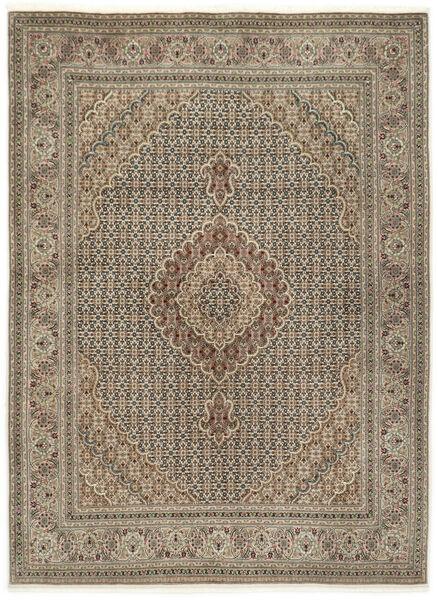 Tabriz 50 Raj Silkillä Matto 155X210 Itämainen Käsinsolmittu Vaaleanharmaa/Vaaleanruskea (Villa/Silkki, Persia/Iran)