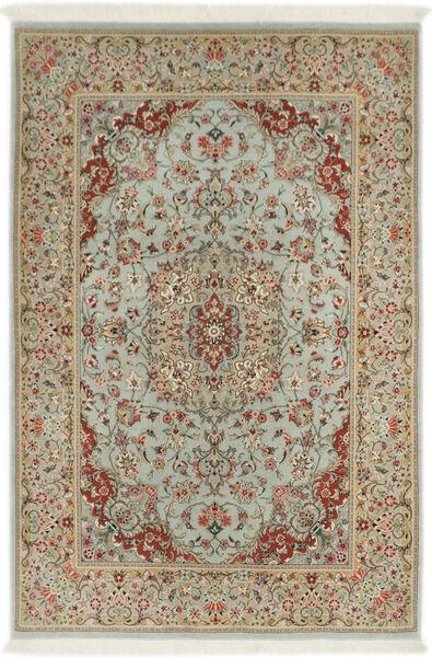 Ilam Sherkat Farsh Silkki Matto 110X168 Itämainen Käsinsolmittu Vaaleanruskea/Vaaleanharmaa (Villa/Silkki, Persia/Iran)