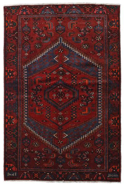 Hamadan Matto 136X204 Itämainen Käsinsolmittu Tummanpunainen (Villa, Persia/Iran)