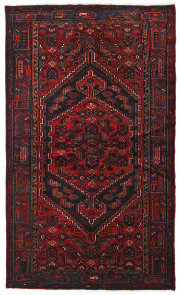 Hamadan Matto 134X226 Itämainen Käsinsolmittu Tummanpunainen (Villa, Persia/Iran)