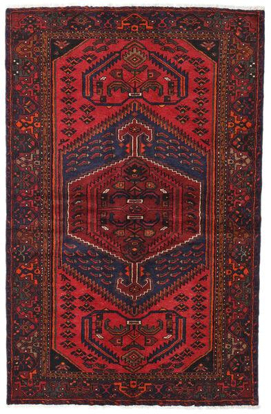 Hamadan Matto 130X201 Itämainen Käsinsolmittu Tummanpunainen/Tummanruskea (Villa, Persia/Iran)