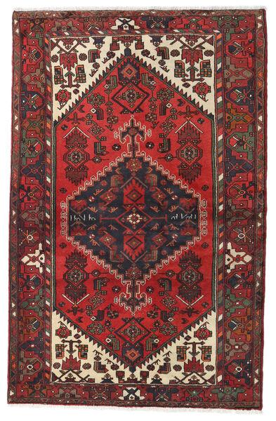 Hamadan Matto 130X202 Itämainen Käsinsolmittu Tummanpunainen/Tummanruskea (Villa, Persia/Iran)