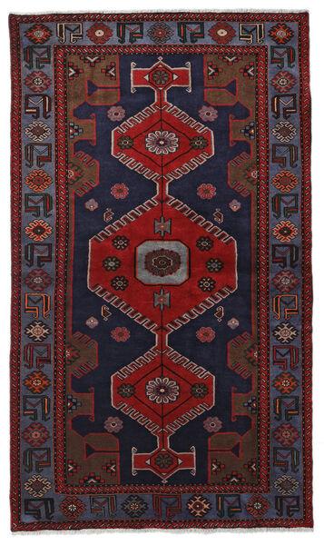 Hamadan Matto 125X217 Itämainen Käsinsolmittu Tummansininen/Tummanpunainen (Villa, Persia/Iran)