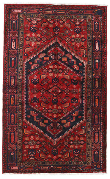 Hamadan Matto 128X210 Itämainen Käsinsolmittu Tummanpunainen/Musta (Villa, Persia/Iran)