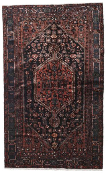 Hamadan Matto 140X224 Itämainen Käsinsolmittu Musta/Tummanruskea (Villa, Persia/Iran)