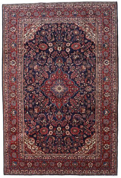 Hamadan Shahrbaf Matto 217X322 Itämainen Käsinsolmittu Tummanvioletti/Tummanpunainen/Tummanruskea (Villa, Persia/Iran)