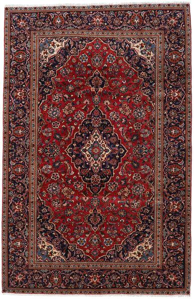 Keshan Matto 193X298 Itämainen Käsinsolmittu Tummanpunainen (Villa, Persia/Iran)