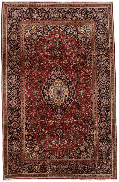 Keshan Matto 197X308 Itämainen Käsinsolmittu Tummanruskea/Tummanpunainen (Villa, Persia/Iran)