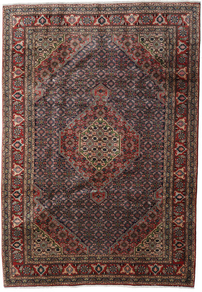 Ardebil Matto 200X286 Itämainen Käsinsolmittu Tummanruskea/Tummanharmaa (Villa, Persia/Iran)