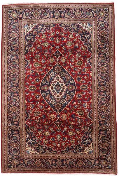 Keshan Matto 208X309 Itämainen Käsinsolmittu Tummanpunainen/Musta (Villa, Persia/Iran)
