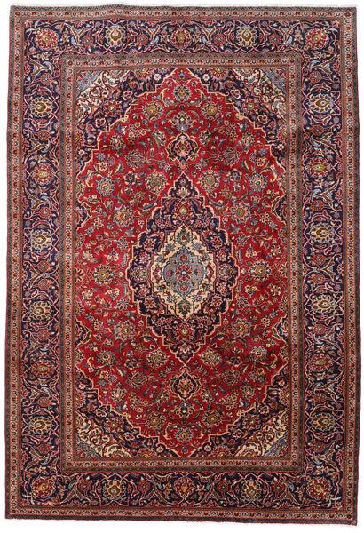 Keshan Matto 201X296 Itämainen Käsinsolmittu Tummanpunainen/Tummansininen (Villa, Persia/Iran)