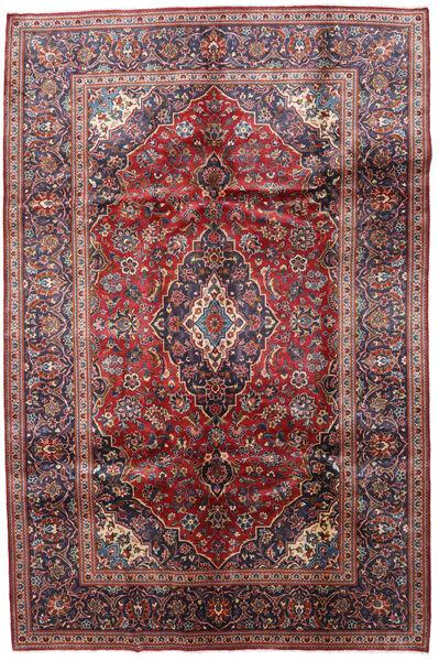 Keshan Matto 202X304 Itämainen Käsinsolmittu Tummanpunainen/Tummanvioletti (Villa, Persia/Iran)