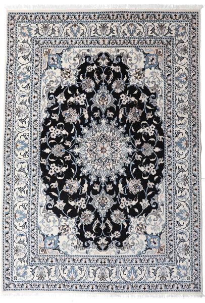 Nain Matto 147X210 Itämainen Käsinsolmittu Vaaleanharmaa/Tummanharmaa (Villa, Persia/Iran)