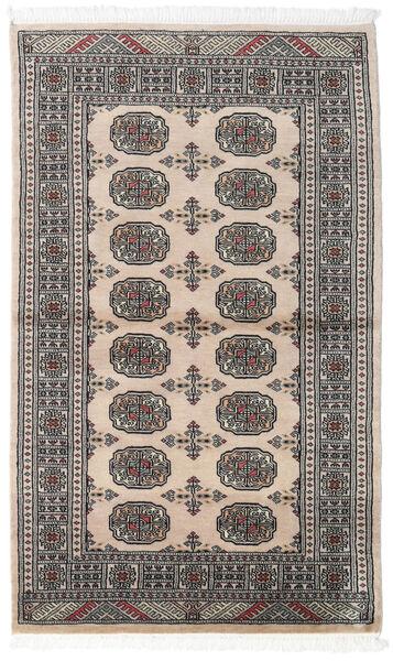 Pakistan Bokhara 2Ply Matto 92X152 Itämainen Käsinsolmittu Tummanharmaa/Vaaleanharmaa (Villa, Pakistan)