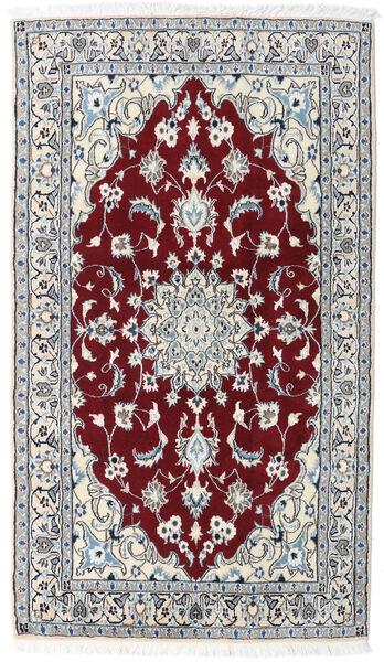 Nain Matto 116X201 Itämainen Käsinsolmittu Vaaleanharmaa/Tummanpunainen (Villa, Persia/Iran)