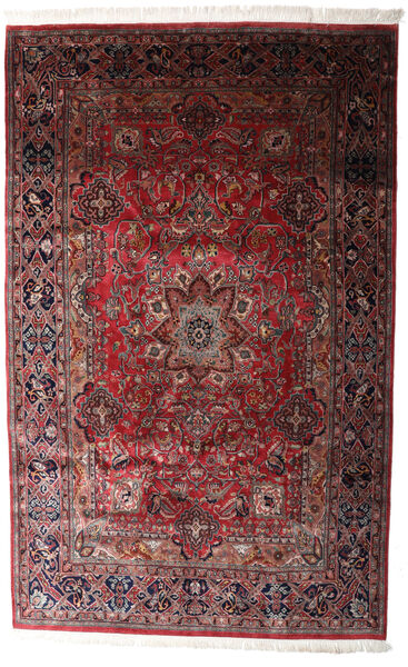 Keshan Indo Matto 198X315 Itämainen Käsinsolmittu Tummanpunainen/Tummanruskea (Villa, Intia)