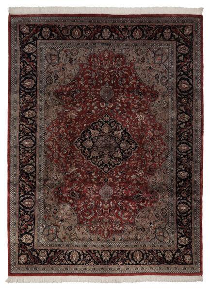 Keshan Indo Matto 248X335 Itämainen Käsinsolmittu Tummanpunainen/Tummanruskea (Villa, Intia)