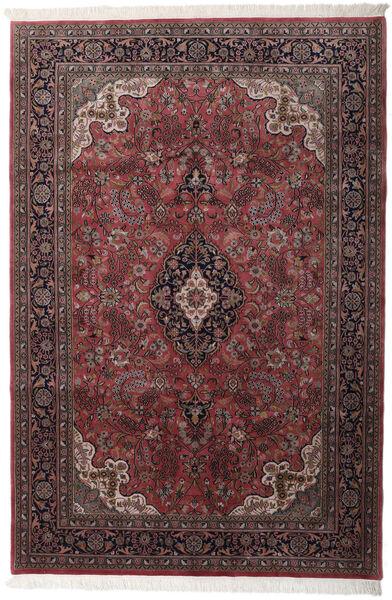 Keshan Indo Matto 204X305 Itämainen Käsinsolmittu Tummanruskea/Tummanpunainen (Villa, Intia)