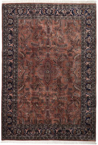 Keshan Indo Matto 245X355 Itämainen Käsinsolmittu Tummanruskea/Musta (Villa, Intia)