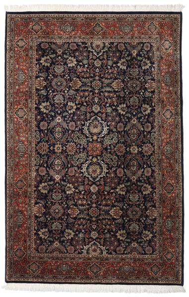 Keshan Indo Matto 202X310 Itämainen Käsinsolmittu Tummanpunainen/Tummanruskea (Villa, Intia)