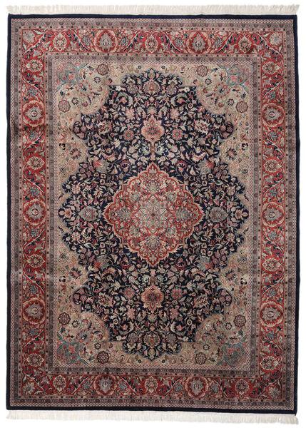 Keshan Indo Matto 254X346 Itämainen Käsinsolmittu Tummanharmaa/Ruskea Isot (Villa, Intia)