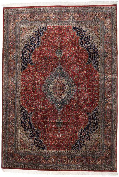 Keshan Indo Matto 247X350 Itämainen Käsinsolmittu Tummanpunainen/Tummanruskea (Villa, Intia)