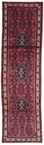 Hamadan Matto 80X280 Itämainen Käsinsolmittu Käytävämatto Tummanpunainen/Tummansininen (Villa, Persia/Iran)