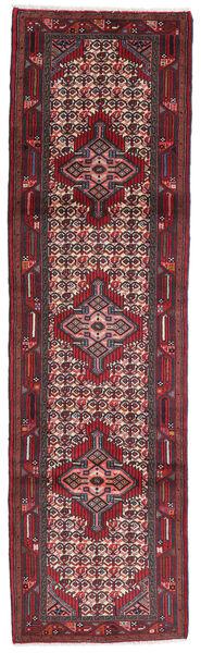 Hamadan Matto 80X280 Itämainen Käsinsolmittu Käytävämatto Tummanruskea/Tummanpunainen (Villa, Persia/Iran)
