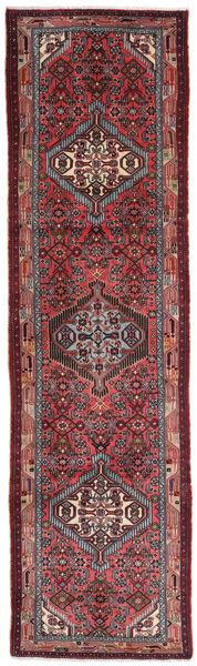 Hamadan Matto 80X280 Itämainen Käsinsolmittu Käytävämatto Tummanpunainen/Tummanruskea (Villa, Persia/Iran)
