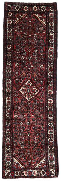 Hamadan Matto 85X265 Itämainen Käsinsolmittu Käytävämatto Musta/Tummanpunainen (Villa, Persia/Iran)
