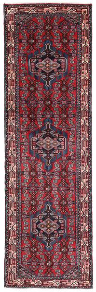 Hamadan Matto 80X260 Itämainen Käsinsolmittu Käytävämatto Tummanpunainen/Ruoste (Villa, Persia/Iran)