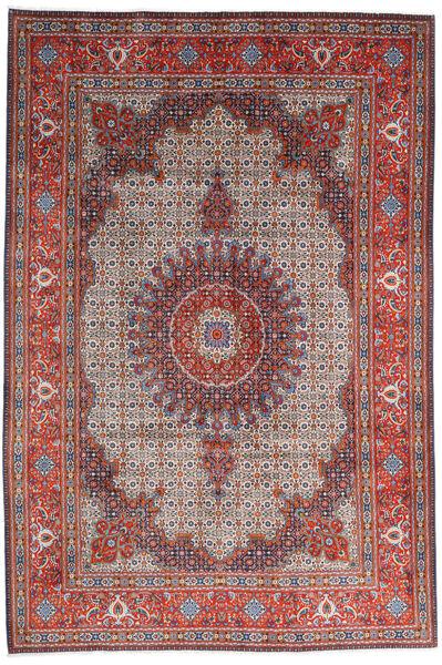 Moud Matto 205X308 Itämainen Käsinsolmittu Tummanpunainen/Vaaleanharmaa (Villa/Silkki, Persia/Iran)
