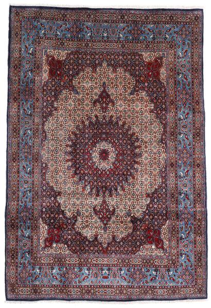 Moud Matto 203X300 Itämainen Käsinsolmittu Musta/Vaaleanharmaa (Villa/Silkki, Persia/Iran)