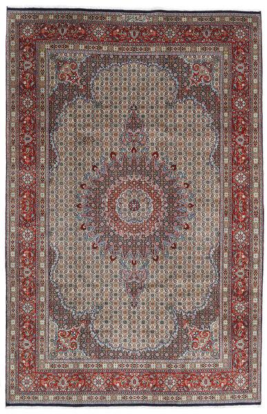 Moud Matto 200X307 Itämainen Käsinsolmittu Vaaleanharmaa/Tummanruskea (Villa/Silkki, Persia/Iran)