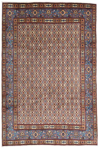 Moud Matto 207X310 Itämainen Käsinsolmittu Vaaleanruskea/Tummanruskea (Villa/Silkki, Persia/Iran)