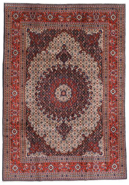 Moud Matto 200X290 Itämainen Käsinsolmittu Tummanpunainen/Tummanruskea/Vaaleanharmaa (Villa/Silkki, Persia/Iran)